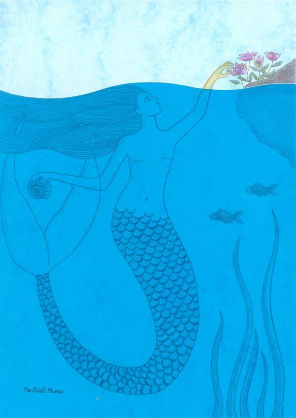 Sous l'eau bleue
